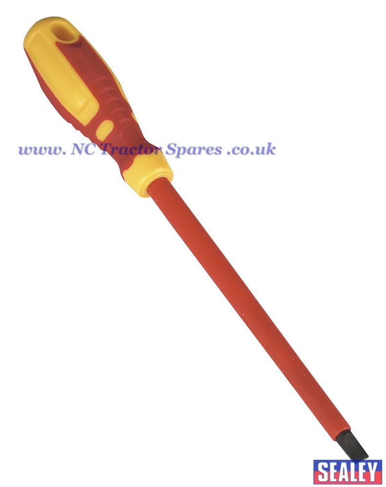 Screwdriver Slotted 8.0 x 175mm VDE/TUV/GS Approved GripMAX
